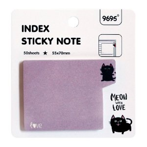 Post-it Index Sticky Note 9695 - Gato Roxo