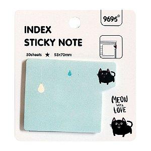 Post-it Index Sticky Note 9695 - Gato azul
