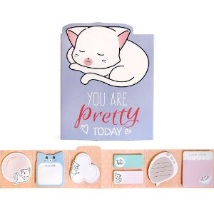 Cartela de Post-it 6 Partes 7 Blocos You Are Pretty Today Gato Roxo
