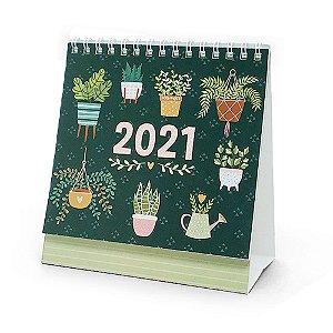 Calendário de Mesa Espiral 2021 My Plants - Cartões Gigantes