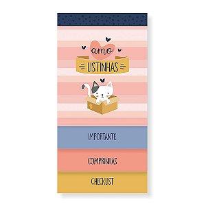 Bloco Minhas Listas 3 Blocos em 1 Cats Gatos - Cartões Gigantes