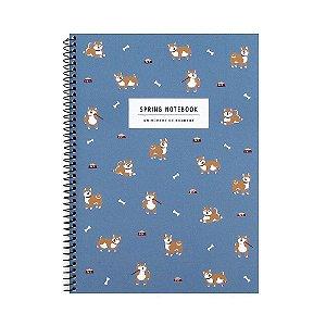 Caderno Espiral Médio Spring Notebook Cachorro Akita - Artbox