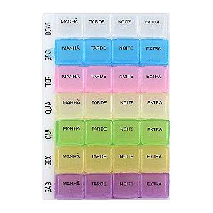 Porta Comprimidos Semanal Colorido