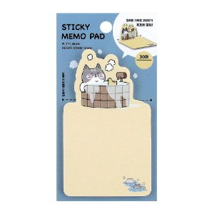 Post-it Sticky Memo Pad Gato na Banheira Amarelo - Artbox