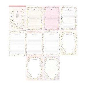 Bloco de Papel de Carta Letter Pad Floral - Artbox