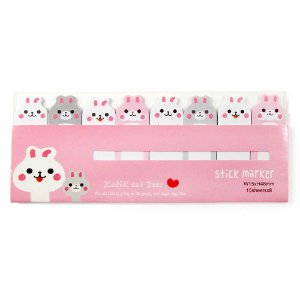 Post-it Stick Marker Coelhos Rosa