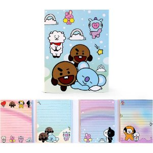 Cartela de Post-it BT21 BTS Todos Personagens Azul