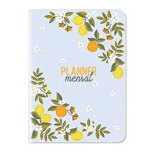 Planner Mensal Não Datado 12 Meses Citrica Limão - Cartões Gigantes