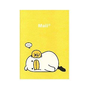 Caderno Brochura Pautado Médio Pato Mali Pintinho Iren Amarelo - Artbox