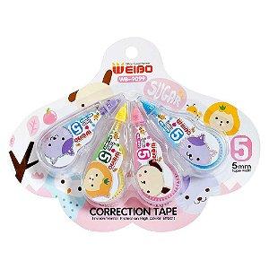 Kit de 4 Corretivos em Fita Correction Tape Sugar Rosa