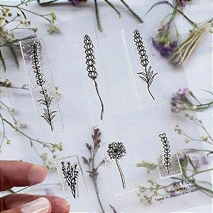 Kit de Carimbos Floral Scrapbook by Tamy - Lilipop