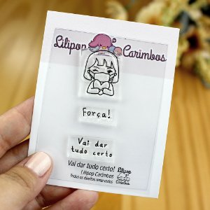 Kit de Carimbos Vai Dar Tudo Certo! - Lilipop