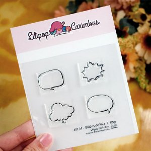 Kit de Carimbos M Balões de Fala 2 - Lilipop