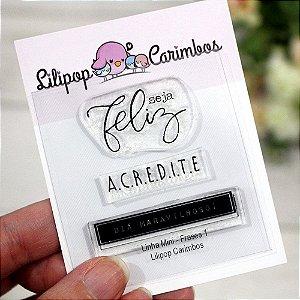 Kit de Carimbos Mini Frases 1 - Lilipop