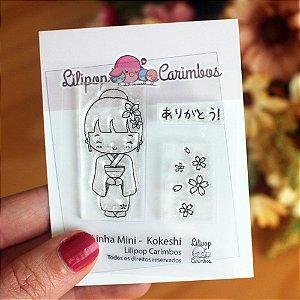 Kit de Carimbos Mini Kokeshi - Lilipop