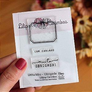 Kit de Carimbos Mini Obrigada - Lilipop
