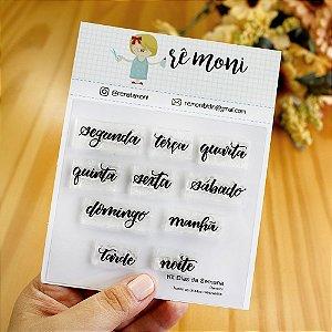 Kit de Carimbos Dias da Semana Brush Rê Moni - Lilipop