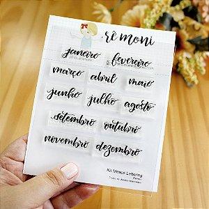 Kit de Carimbos Meses Lettering Rê Moni - Lilipop
