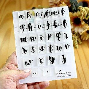 Kit de Carimbos Alfabeto Brush Letra Minúscula Rê Moni - Lilipop