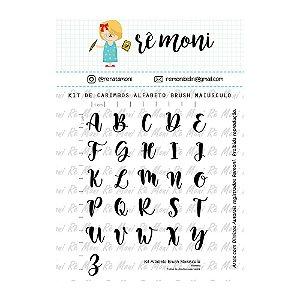 Kit de Carimbos Alfabeto Brush Letra Maiúscula Rê Moni - Lilipop
