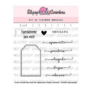 Kit de Carimbos Tag Obrigada - Lilipop