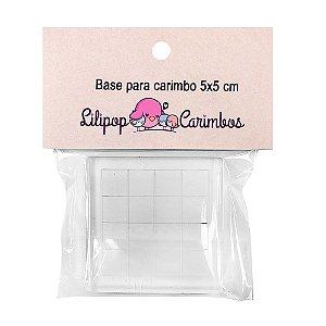 Base de Acrílico Para Carimbos Com Grade 5x5cm - Lilipop