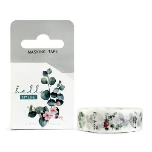 Fita Decorativa Washi Tape - Plantas Folhas Hello My Life