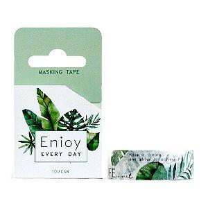Fita Decorativa Washi Tape - Plantas Folhas Enjoy Every Day