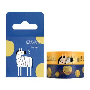 Kit de 2 Fitas Decorativas Washi Tape - Sapovica Animais Zebra Azul