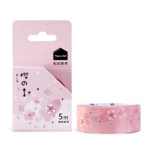 Fita Decorativa Washi Tape - Sakura Rosa