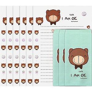 Papel de Carta I Am Ok Urso Choco Teddy