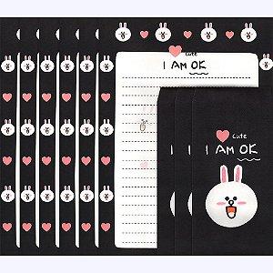 Papel de Carta I Am Ok Coelho Cony
