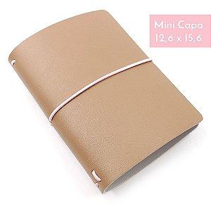 Mini Capa Latte Marrom (Para 4 Mini Blocos) Para Mini Planner A.Craft