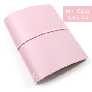 Mini Capa Rosa Millennial (Para 4 Mini Blocos) Para Mini Planner A.Craft