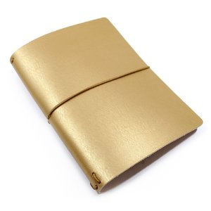 Capa Matte Gold Dourada (Para 4 Blocos) Para Planner A.Craft Tamanho Padrão
