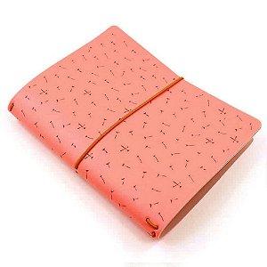 Capa Rosa Coral Dandelion (Para 4 Blocos) Para Planner A.Craft Tamanho Padrão