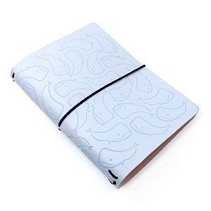 Capa Céu Azul Baleias (Para 4 Blocos) Para Planner A.Craft Tamanho Padrão