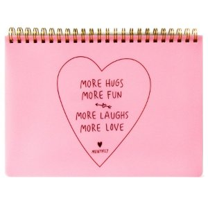 Agenda Mensal (Sem Data) Planner Espiral Artbox - More Hugs More Fun More Laughs More Love Monthly