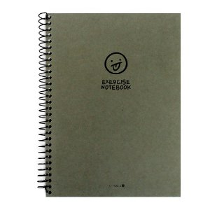 Caderno Espiral Sem Pauta Exercise Notebook Rostinho Verde - Morning Glory