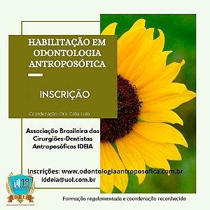 Inscrição - Habilitação em Odontologia Antroposófica - Formação Regulamentada