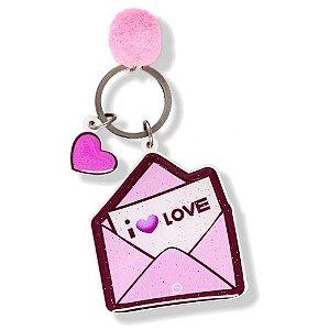 Chaveiro carta I love - YouzBR