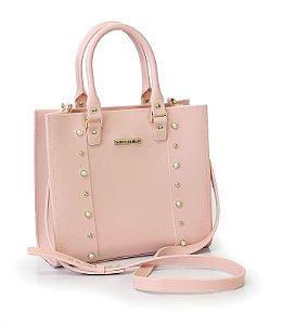 Bolsa Cairo Com Detalhes Rosa - Sweet Chic