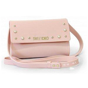 Bolsa Firenze Com Spikes Rosa - Sweet Chic