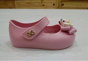 Sapatilha baby laço confeti Rosa bebê - World Colors