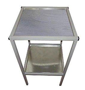 Mesa Para Corte De Frango Com Tampo Em Inox