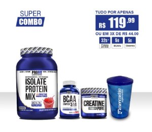 [PROFIT] Isolate Protein Mix 1kg + Creatina + BCAA + Copo