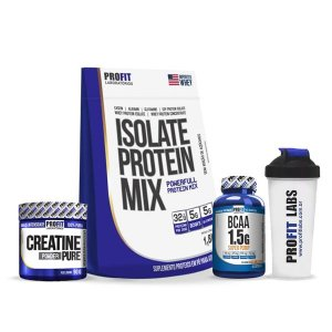 [COMBO] Isolate Protein Mix 1,8kg + Creatina + BCAA + Coqueteleira
