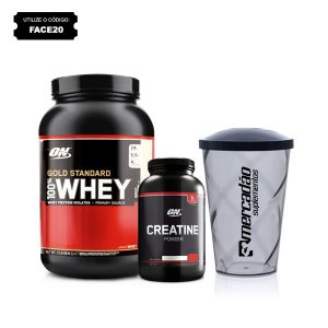 Kit Optimum - 100% Whey Gold Standard (920g) + Creatina ON (150g) + Copo