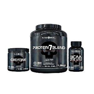[B.SKULL] Protein 7 Blend (1,8kg) + Creatina (150g) + BCAA (100 caps)