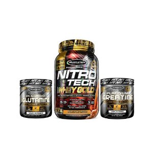 [MUSCLETECH] Nitrotech Gold (1kg) + Creatina (100g) + Glutamina (100g)